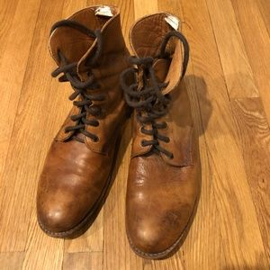 Bed Stu Brown Leather Lace Up Boots Size 11